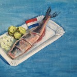 Hollandse Nieuwe, oil on panel, 18x24 cm. -SOLD-