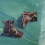 boots, oil on panel